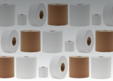rolls of various tissue products for professional markets